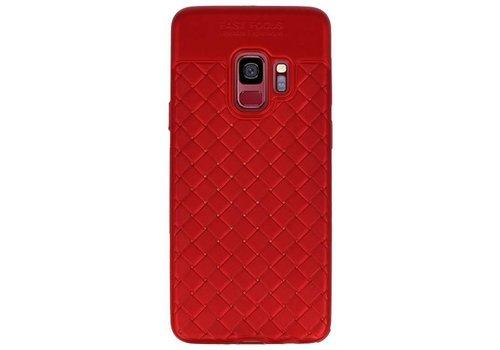 Geweven TPU Siliconen Case voor Galaxy S9 Rood