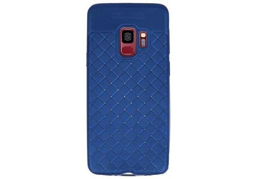 Geweven TPU Siliconen Case voor Galaxy S9 Blauw
