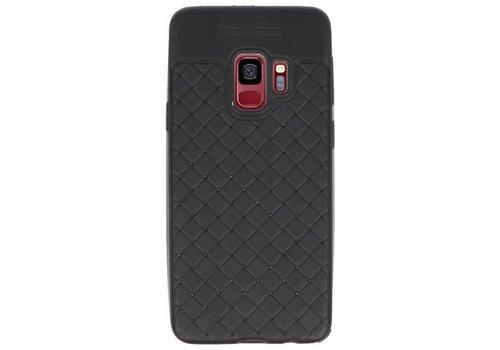 Geweven TPU Siliconen Case voor Galaxy S9 Zwart