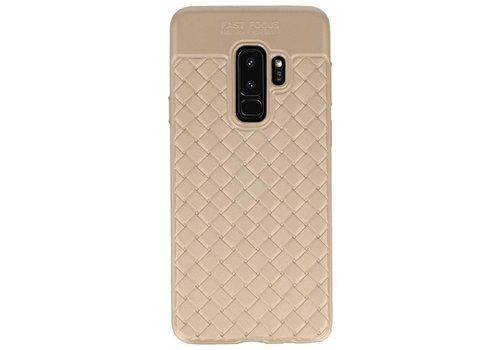 Geweven TPU Siliconen Case voor Galaxy S9 Plus Goud