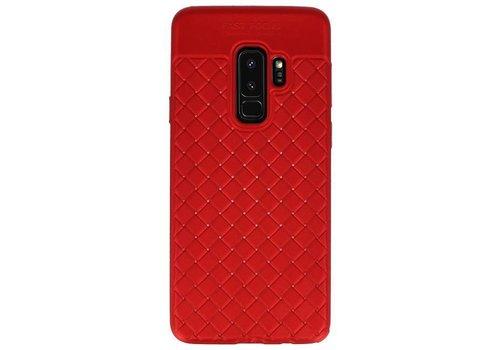 Geweven TPU Siliconen Case voor Galaxy S9 Plus Rood