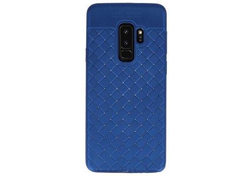 Geweven TPU Siliconen Case voor Galaxy S9 Plus Blauw