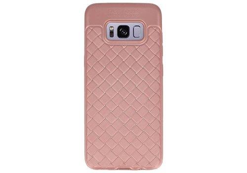 Geweven TPU Siliconen Case voor Galaxy S8 Roze