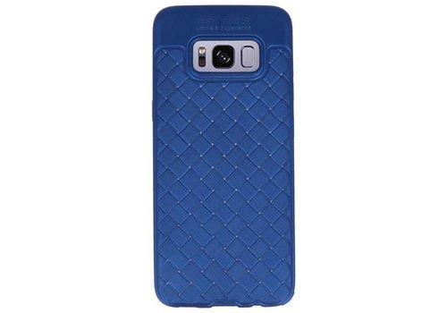 Geweven TPU Siliconen Case voor Galaxy S8 Blauw