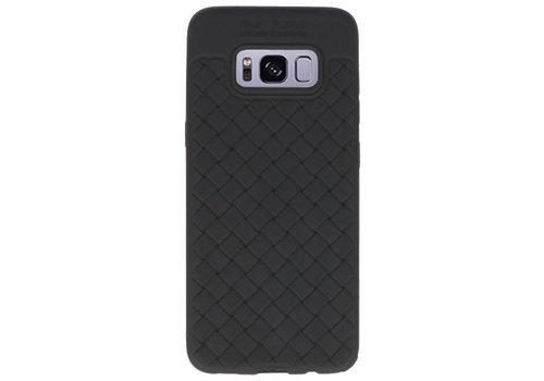 Geweven TPU Siliconen Case voor Galaxy S8 Zwart