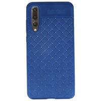 Geweven TPU Siliconen Case voor Huawei P20 Pro Blauw