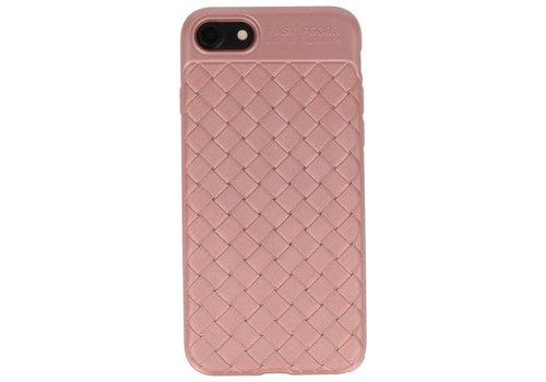 Geweven TPU Siliconen Case voor iPhone 8 Roze