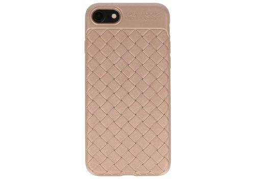 Geweven TPU Siliconen Case voor iPhone 8 Goud