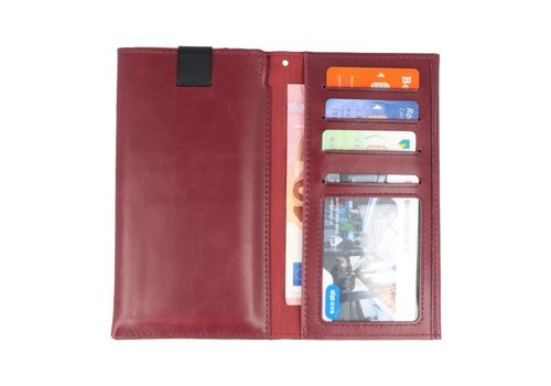 Insteek Wallet Cases voor iPhone 8 Plus Bordeaux Rood