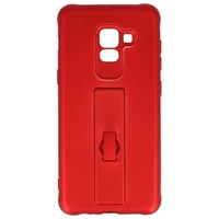Carbon series hoesje Samsung Galaxy A8 2018 Rood