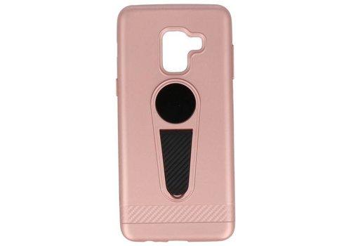 Microfoon series hoesje Samsung Galaxy A8 2018 Roze