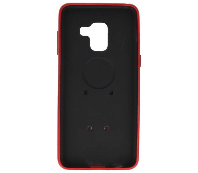 Microfoon series hoesje Samsung Galaxy A8 2018 Rood