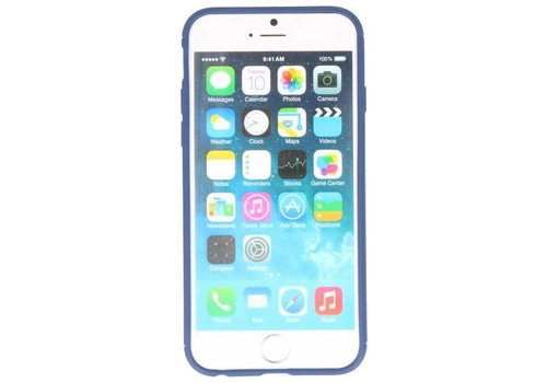 Softcase voor iPhone 8 / 7 Hoesje met Ring Houder Navy