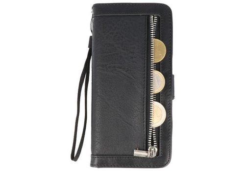 Luxe Portemonnee Telefoonhoesje voor Galaxy S8 Plus Zwart