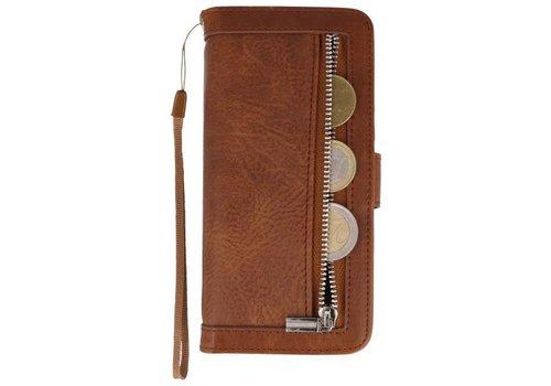 Luxe Portemonnee Telefoonhoesje voor Galaxy S8 Bruin