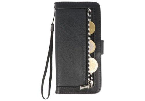 Luxe Portemonnee Telefoonhoesje voor Galaxy S8 Zwart