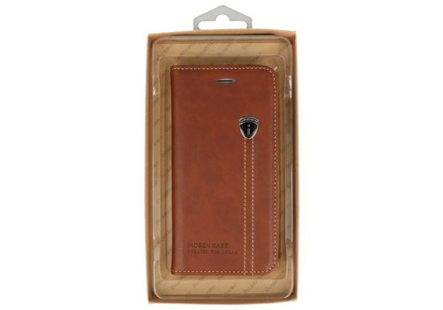 IHOSEN Wallet Cases voor iPhone 7 / 8 Plus Bruin