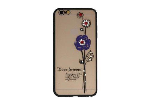 Love Forever Hoesjes voor iPhone 6 / 6s Plus Paars