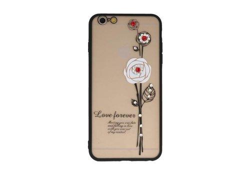 Love Forever Hoesjes voor iPhone 6 / 6s Plus Wit