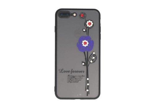 Love Forever Hoesjes voor iPhone 7 / 8 Plus Paars