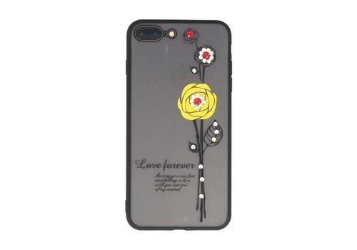 Love Forever Hoesjes voor iPhone 7 / 8 Plus Geel