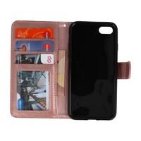 Backcase Bookhoesje voor iPhone 7 / 8 Goud