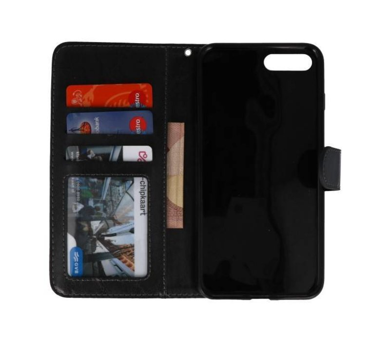 Backcase Bookhoesje voor iPhone 7 / 8 Plus Zwart