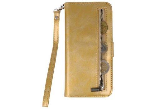 Luxe Portemonnee Telefoonhoesje voor Galaxy S8 Plus Goud
