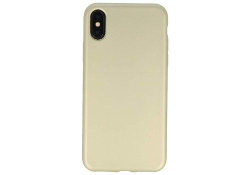 Color TPU Hoesje voor iPhone X Goud