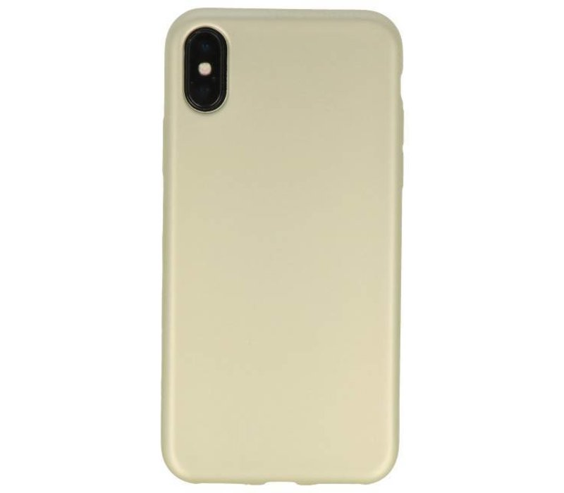 Color TPU Hoesje voor iPhone X Goud