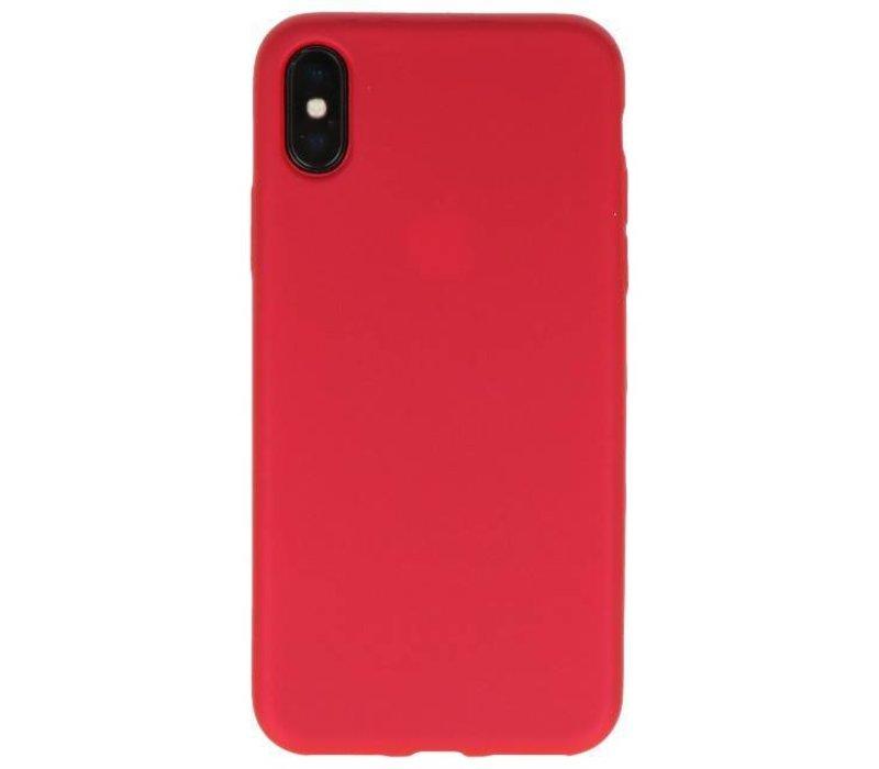 Color TPU Hoesje voor iPhone X Rood