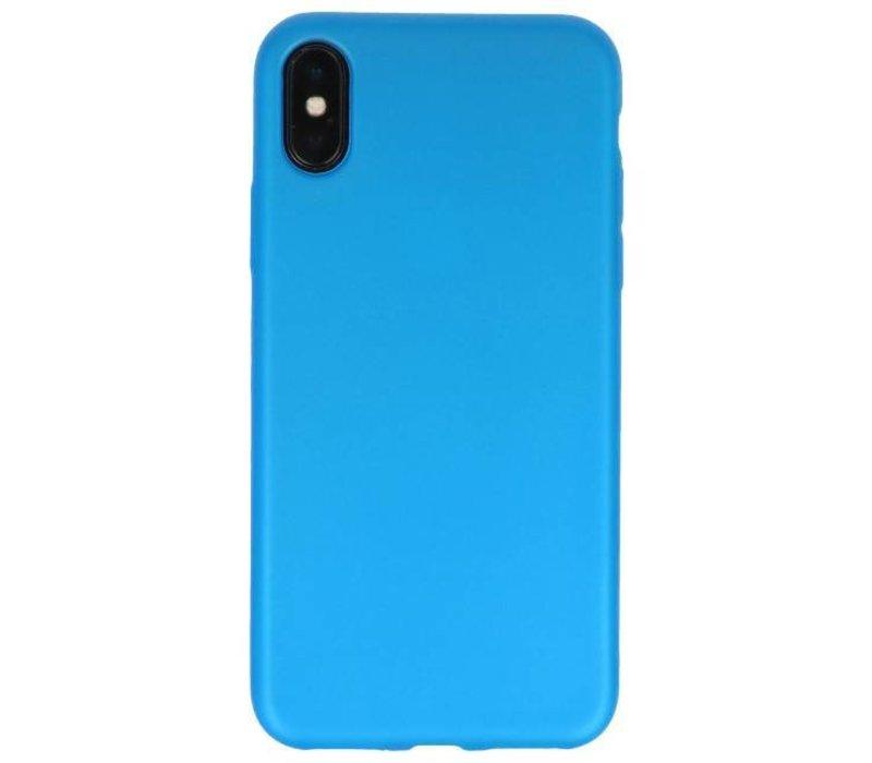 Color TPU Hoesje voor iPhone X Blauw