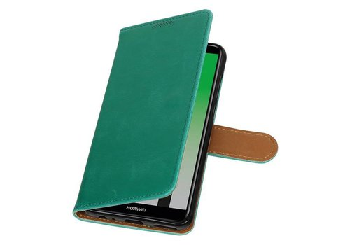 Pull Up PU Leder Bookstyle voor Huawei P20 Groen