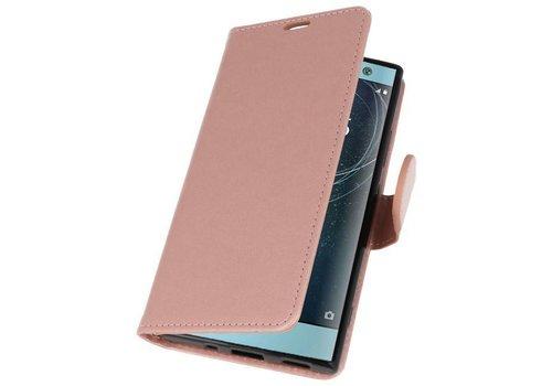 Wallet Cases Hoesje voor Xperia XA2 Roze