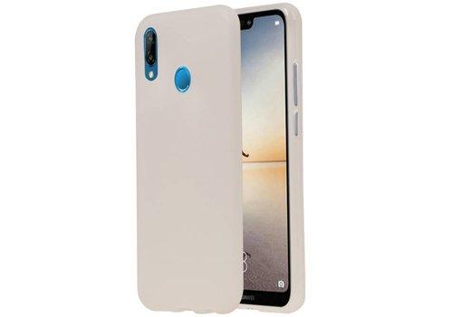 TPU Hoesje voor Huawei P20 Lite Wit