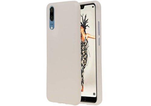 TPU Hoesje voor Huawei P20 Wit