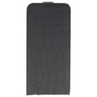 Croco Flip Hoes voor iPhone 5 / 5s Zwart