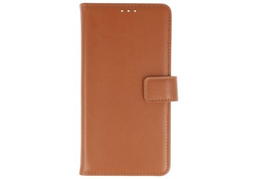 Lederlook Bookstyle Wallet Cases Hoes voor Xperia XA2 Bruin