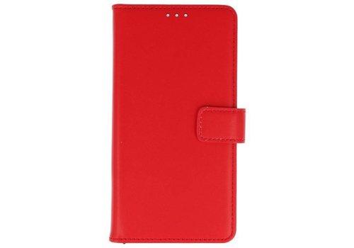 Lederlook Bookstyle Wallet Cases Hoes voor Xperia XA2 Rood