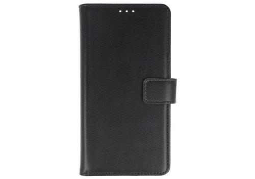 Lederlook Bookstyle Wallet Cases Hoes voor Xperia XA2 Zwart