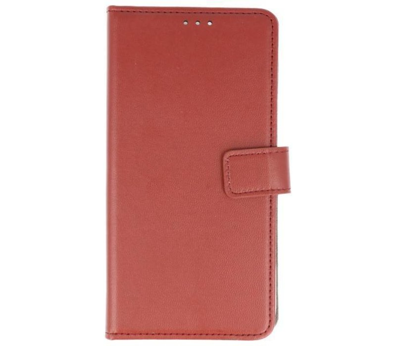 Bookstyle Wallet Cases Hoes voor Huawei P Smart Bruin