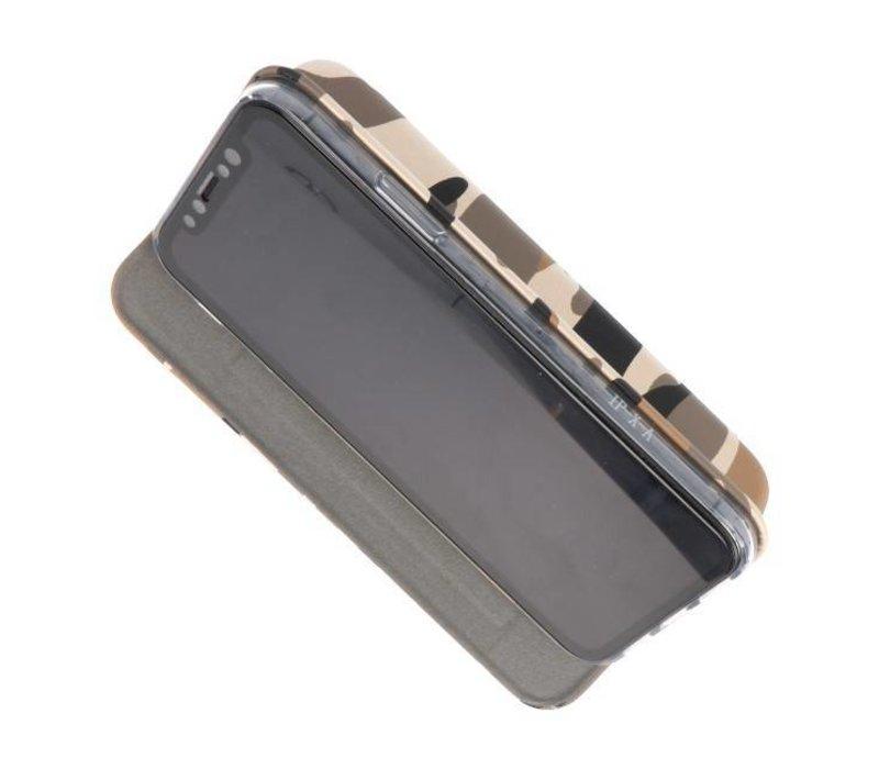 Army Slim Folio Case voor iPhone X Bruin
