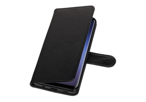 Galaxy S9 Plus Portemonnee hoesje booktype wallet case Zwart