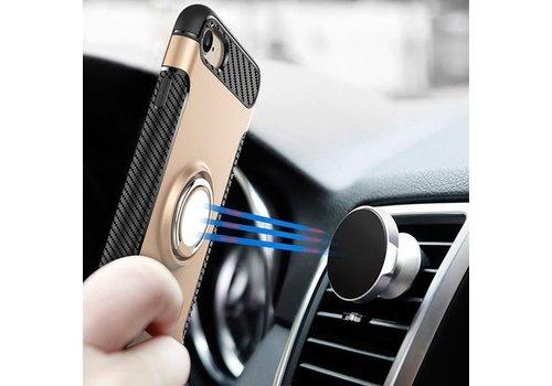 Shield TPU Hoesje met Ring Houder voor iPhone X Roze