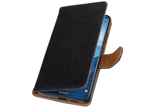 Pull Up PU Leder Bookstyle voor Huawei Mate 10 Pro Zwar