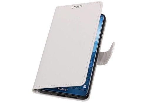 Huawei Mate 10 Pro Portemonnee hoesje booktype Wit