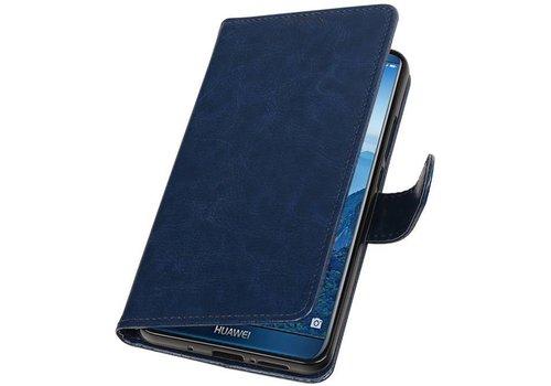 Huawei Mate 10 Pro Portemonnee hoesje booktype Donker Blauw