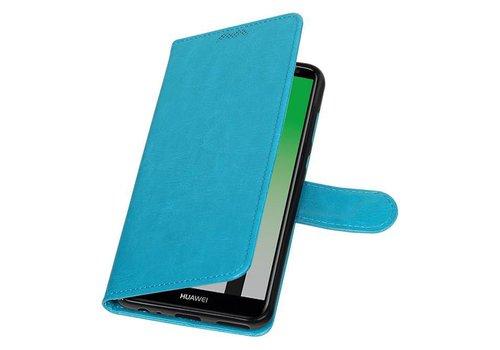 Huawei Mate 10 Lite Portemonnee hoesje booktype Donker Blauw