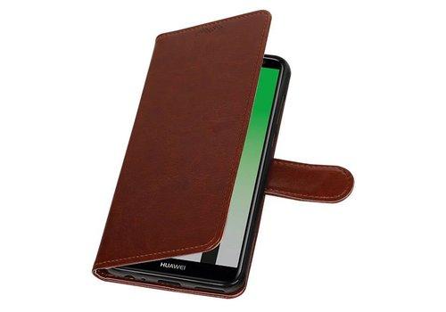 Huawei Mate 10 Lite Portemonnee hoesje booktype wallet Bruin