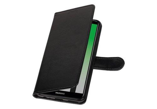 Huawei Mate 10 Lite Portemonnee hoesje booktype wallet Zwart